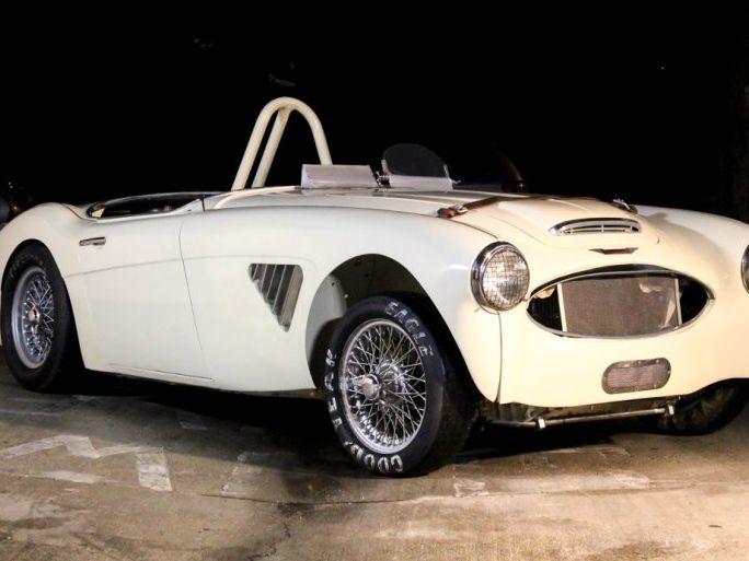 1958 Austin Healey BN6-100 White Racecar