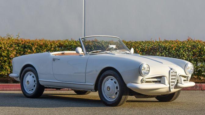 1960 Alfa Romeo Giulietta Spider Veloce 750F 2.0l 5-Speed