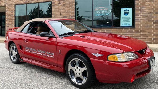 1994 Ford Mustang Cobra Pace Car Convertible