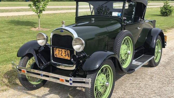 1929 Ford Model A Standard Roadster With A Rumble Seat