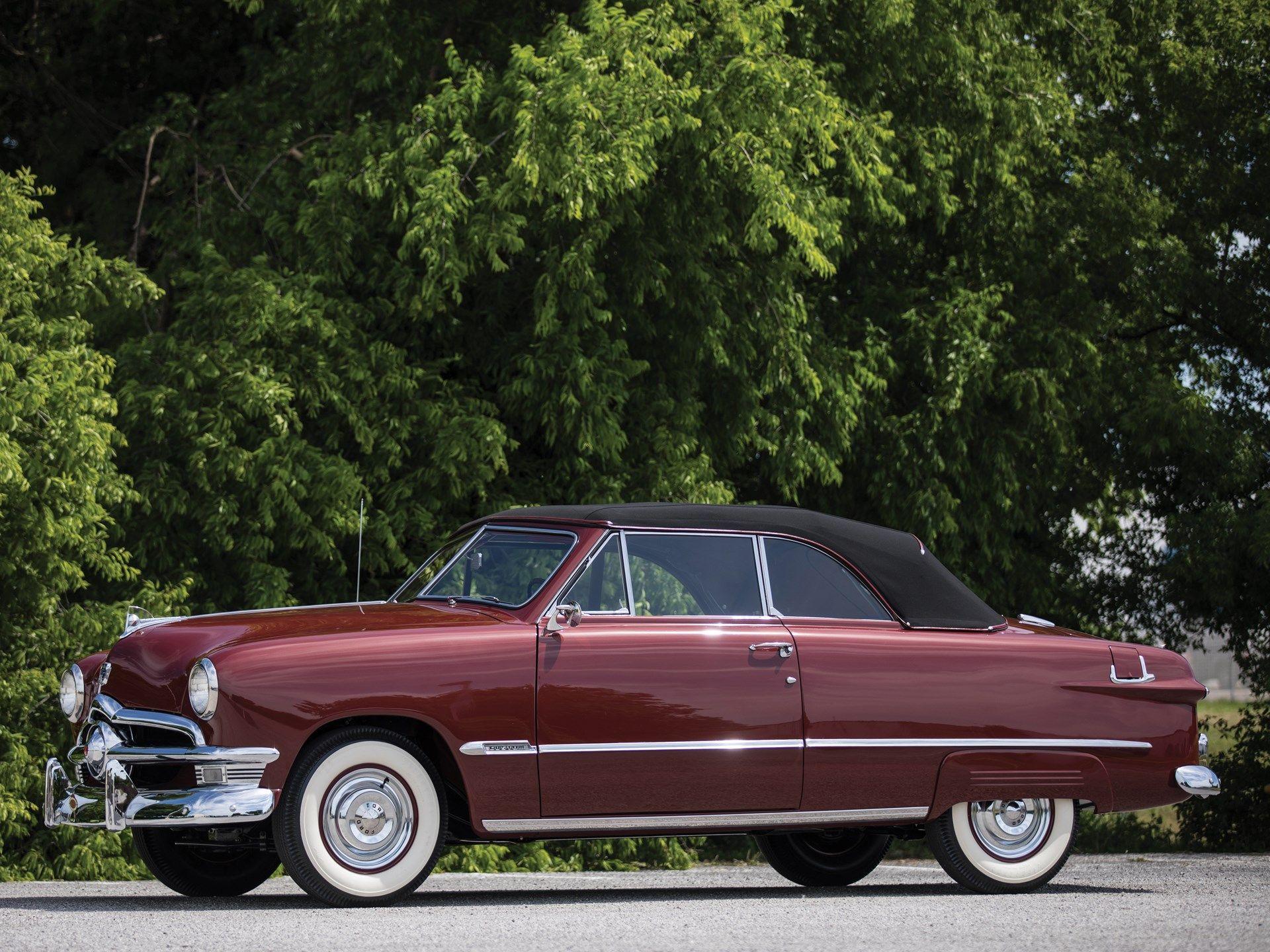 1950 Ford Custom Deluxe Convertible Vin B0lb112069 Classic Com