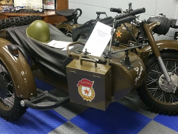 1963 Russian Military Motorcycle W/Sidecar