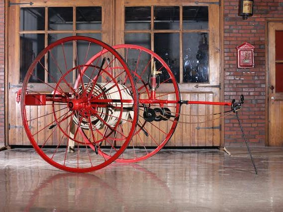 C.19th-Century Waterous Engine Works Company Hose Reel