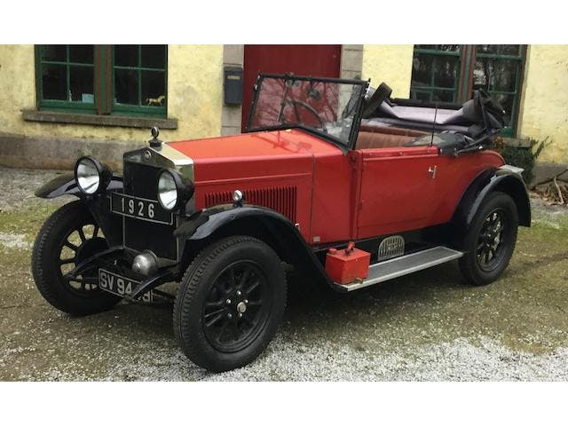 1926 Fiat 509 Roadster With Dickey