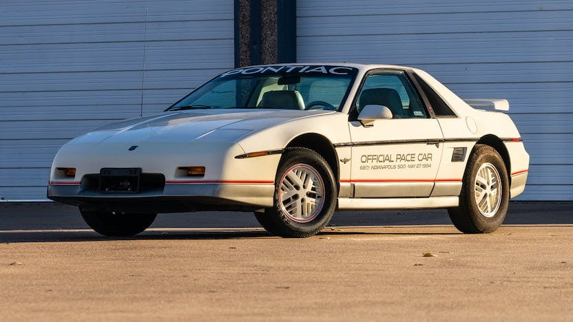 1984 Pontiac Fiero Pace Car Edition