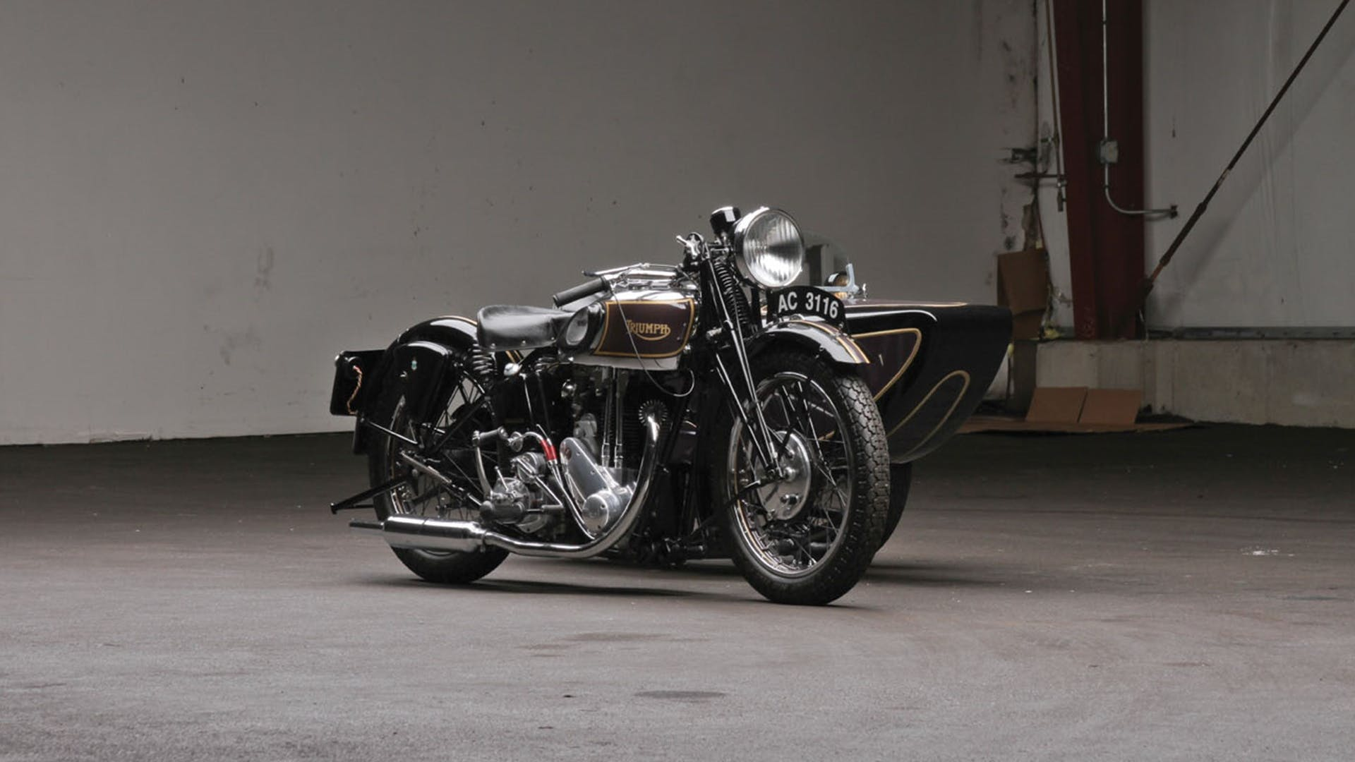 1936 Triumph 5/5 With Sidecar