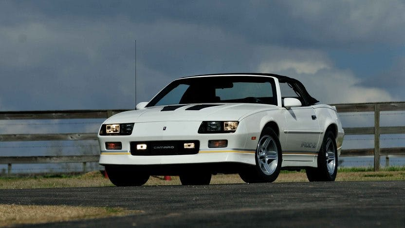 1990 chevrolet camaro iroc z convertible vin 1g1fp33f0ll128306 classic com classic com