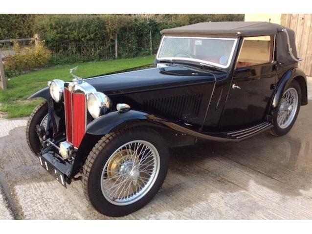 1938 MG Midget Ta Tickford Drophead Coupé