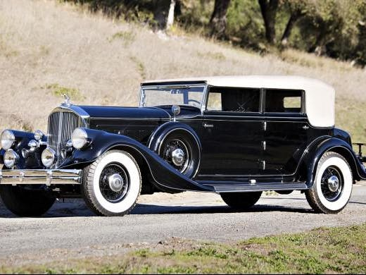 1933 Pierce-Arrow 1247 Twelve Convertible Sedan